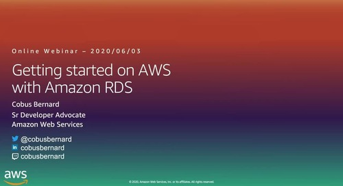 Getting Started on AWS with RDS