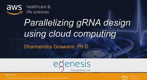 Parallelizing gRNA design using AWS cloud computing