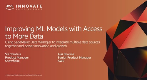 Improving ML Models with Access to More Data: Using SageMaker Data Wrangler to Integrate Multiple Data Sources Together and Power Innovation