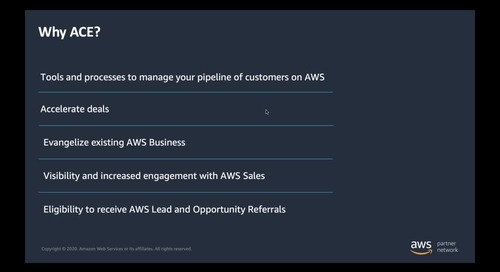 AWS Customer Engagement Program - Marketing