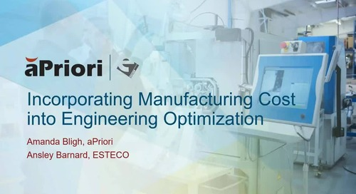 Incorporating Manufacturing Cost into Engineering Optimization