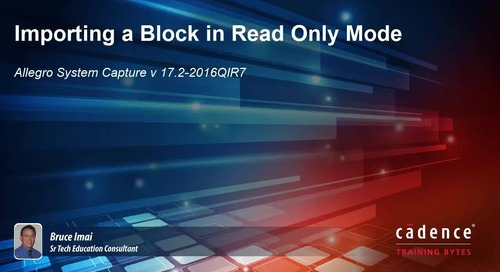 System Capture - Importing a Block in Read Only Mode
