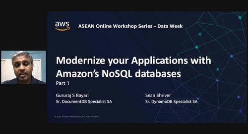 Modernize your app data layer with Amazon DocumentDB