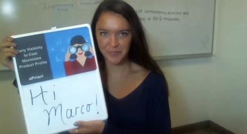 Marco, increase product profitability with aPriori