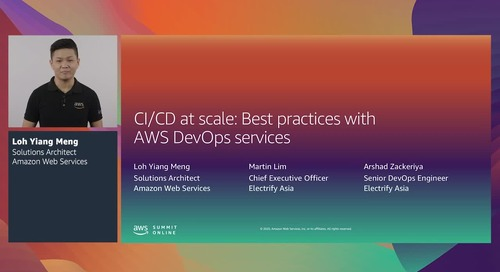 AWS Summit Online ASEAN 2020 | CI/ CD at scale: Best practices with AWS DevOps services [Level 300]