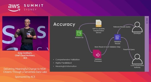 Delivering Meaningful Change to NSW Citizens Through a Serverless Data Lake(Sponsored by AC3)