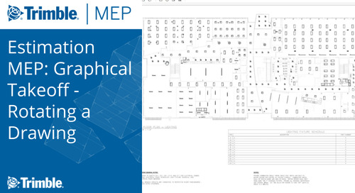 Estimation MEP: Graphical Takeoff - Rotating a Drawing