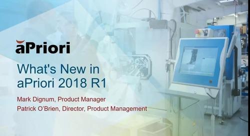 aPriori 2018 R1 What's New Webinar