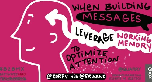When building your messages, try to leverage working memory. @corpv reports it will optimize attention & effectiveness. @B2BMX via @erikawg