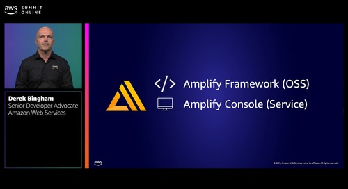 Accelerate your application development with AWS Amplify