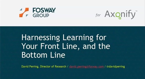 Webinar: Harnessing Learning for Your Front Line, and the Bottom Line