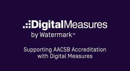 Supporting AACSB with Digital Measures by Watermark