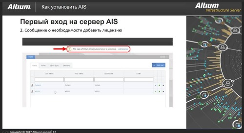 Администрирование программного обеспечения Altium средствами Altium Infrastructure Server