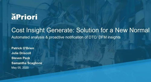 Cost Insight Generate: Solution for a New Normal