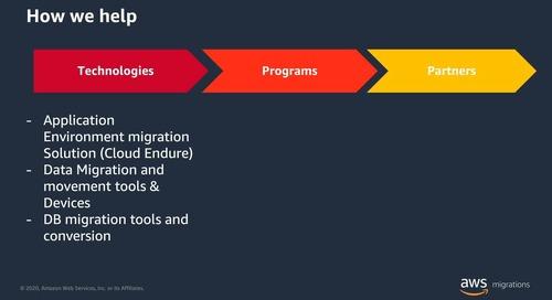 Cómo AWS te puede ayudar a migrar: programas y herramientas