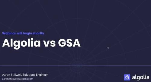 Algolia vs Google Search Appliance
