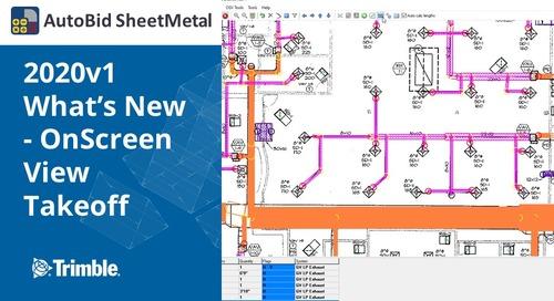 AutoBid SheetMetal 2020v1 What's New - OnScreen View Takeoff