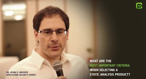 Checkmarx interview with Dr. Achim D. Brucker, Application Security Expert