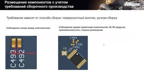 Размещение компонентов на печатной плате в Altium Designer