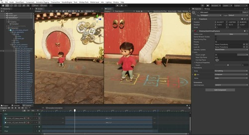 Cameras and character development for high-end-animation