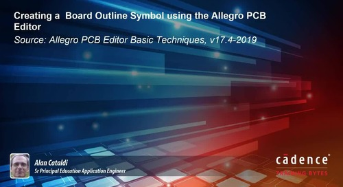 Creating a Board Outline Symbol using the Allegro PCB Editor