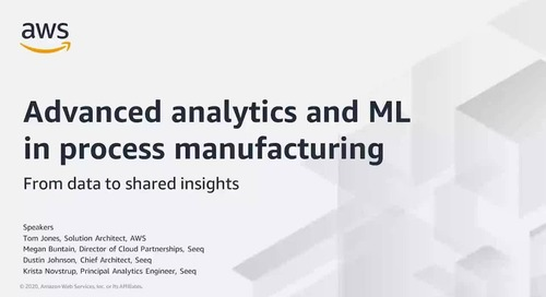 Advanced Analytics and ML in Process Manufacturing with Seeq