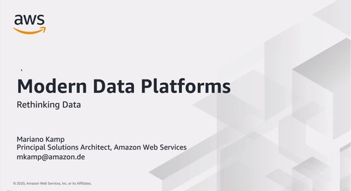Modern Data Platforms - Rethinking Data