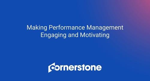 WEBINAR: Making Performance Management Engaging and Motivating