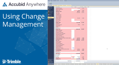 [Webinar Recording] Using Change Management for Accubid Anywhere or Enterprise