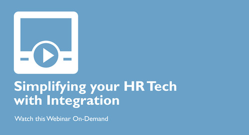 Simplifying your HR Technology with Integration
