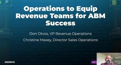 Operations to Equip Revenue Teams for ABM Success