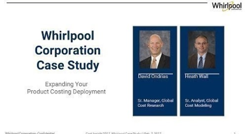 How Whirlpool Deployed aPriori across a Global Network