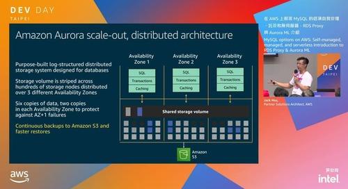 在 AWS 上部署 MySQL 的選項自我管理、託管和無伺服器,RDS Proxy與Aurora ML介紹