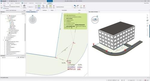 Design a surface around a building with Trimble Novapoint & Quadri