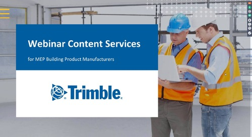 Webinar Your products in the Revit workflow