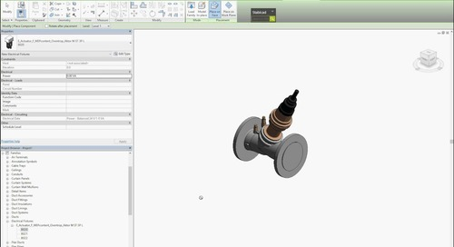 Oventrop actuator families for Revit