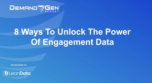8 Ways to Unlock the Power of Engagement Data