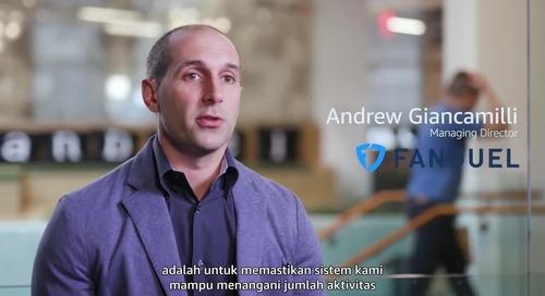 FanDuel Mengalihkan Beban Kerja Kritis ke AWS Menggunakan Amazon Aurora, Mencapai Waktu Kerja Hampir 100 Persen