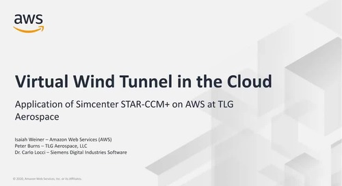 Virtual Wind Tunnel in the Cloud with Siemens' Simcenter STAR-CCM+