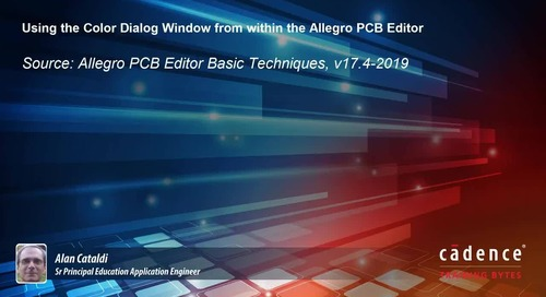 Using the Color Dialog Window from within the Allegro PCB Editor