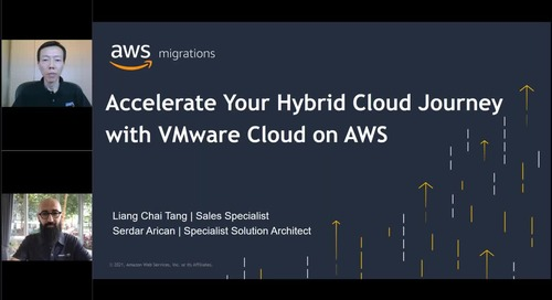 Accelerate your hybrid cloud journey with VMware Cloud on AWS