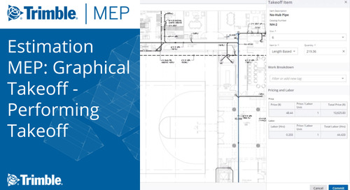 Estimation MEP: Graphical Takeoff - Performing Takeoff