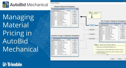 Managing Material Pricing in AutoBid Mechanical