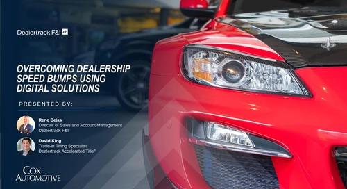 Overcoming Dealership Speed Bumps Using Digital Solutions