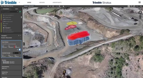 [Video] Trimble Stratus - Drone Data Platform for Aggregates Operations