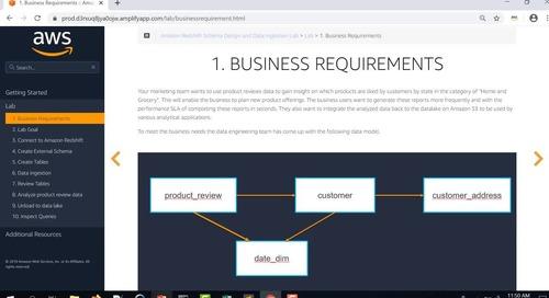 Analytics Modernization Week - Lab: Amazon Redshift Schema Design & Data Ingestion