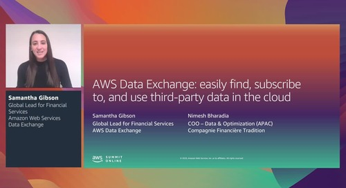 AWS Summit Online ASEAN 2020   Find & subscribe to third-party data in the cloud [Level 200] (copy)