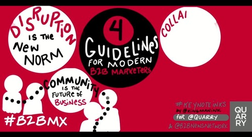 The 4 keywords that capture the 4 guidelines of modern #B2BMarketing: disruption, community, collaboration and relatability
