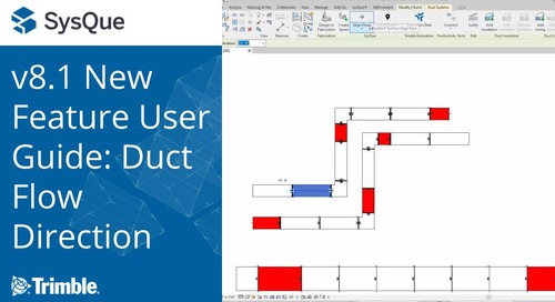 SysQue v8.1 New Feature User Guide: Duct Flow Direction