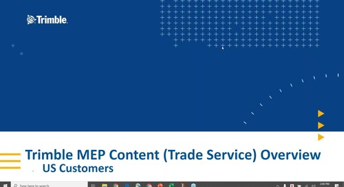 Trimble MEP Content - TRA-SER & Supplier Xchange for Autobid customers webinar Series